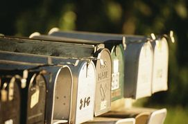 group of rural mailboxes